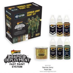 Warlord Games Bolt Action  Germany (BA) Bolt Action German Paint Set - 822612001 - 5060572500556