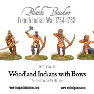 Warlord Games Black Powder  American War of Independence Woodland Indians with Bows - WG7-FIW-52 - 5060200844892