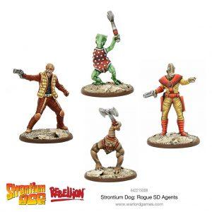 Warlord Games Strontium Dog  Strontium Dog Strontium Dog: Rogue SD Agents - 642215008 - 5060572500921