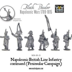 Warlord Games Black Powder  British (Napoleonic) British Line Infantry command (Peninsular) - WGN-BR-26 - 5060200848647