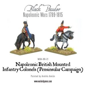 Warlord Games Black Powder  British (Napoleonic) Mounted British Infantry Colonels (Peninsular) - WGN-BR-21 - 5060200845271