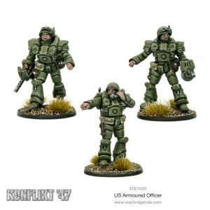 Warlord Games Konflikt '47  USA (K47) US Armoured Officers - 453010403 - 5060572500419