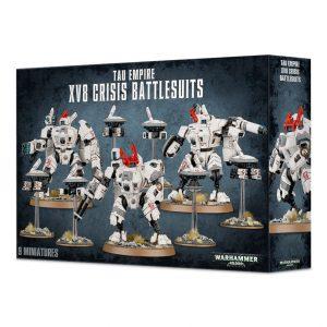 Games Workshop Warhammer 40,000  T'au Empire T'au XV8 Crisis Battlesuit Team - 99120113038 - 5011921064953