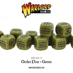 Warlord Games Bolt Action  Bolt Action Extras Bolt Action Orders Dice - Green (12) - WGB-DICE-12 - 5060200846964