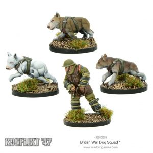 Warlord Games Konflikt '47  British (K47) British War Dog Squad - 453010603 - 5060572500433