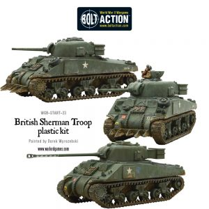 Warlord Games Bolt Action  Great Britain (BA) British Sherman Tank Troop (inc. VC Firefly) - 402011011 - 5060393707578