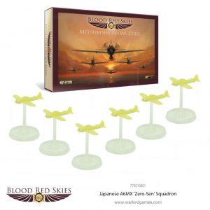 Warlord Games Blood Red Skies  Blood Red Skies Blood Red Skies: Japanese A6MX 'Zero-Sen' Squadron - 772016001 - 5060393707073