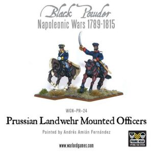 Warlord Games Black Powder  Prussians (Napoleonic) Prussian Mounted Officers - WGN-PRU-21 -