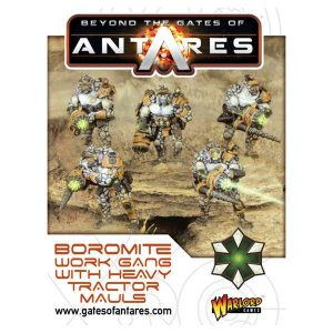 Warlord Games Beyond the Gates of Antares  Boromite Guilds Boromite Work Gang (Heavy Tractor Mauls) - 502212001 - 5060393705895
