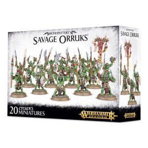 Games Workshop Age of Sigmar  Orruk Warclans Bonesplitterz Savage Orruks - 99120209036 - 5011921076536