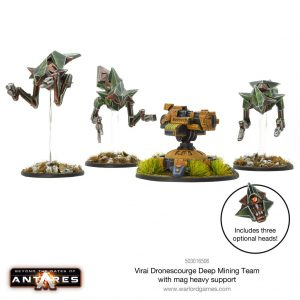 Warlord Games Beyond the Gates of Antares  Virai Dronescourge Virai Dronescourge Deep Mining Team (Mag Heavy Support) - 503016506 - 5060572500860
