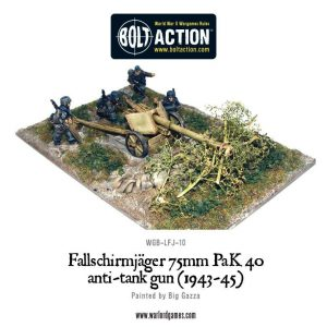 Warlord Games Bolt Action  Germany (BA) Fallschirmjager 75mm PaK 40 Anti-tank Gun - WGB-LFJ-10 -