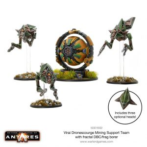 Warlord Games Beyond the Gates of Antares  Virai Dronescourge Virai Dronescourge Mining Support Team (Fractal DBC) - 503016502 - 5060393709510
