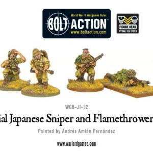 Warlord Games Bolt Action  Japan (BA) Imperial Japanese Sniper & Flamethrower teams - WGB-JI-32 - 5060200848814