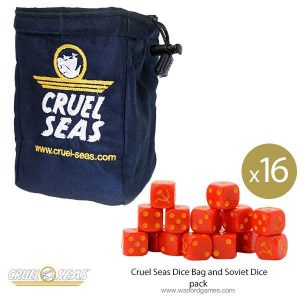 Warlord Games Cruel Seas  Cruel Seas Cruel Seas Dice Bag and Soviet Dice pack - 788904001 -