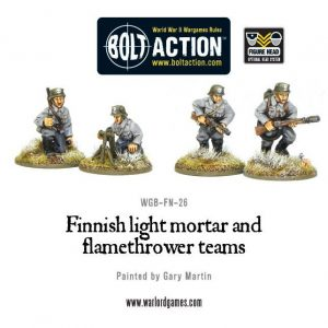 Warlord Games Bolt Action  Finland (BA) Finnish Light Mortar & Flame Thrower - WGB-FN-26 - 5060200848906