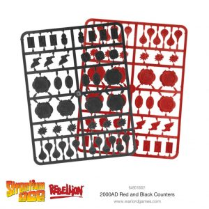 Warlord Games Judge Dredd  Strontium Dog 2000 AD Red & Black Counters - 649010001 - 5060572501225