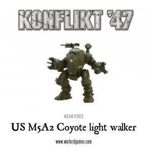 Warlord Games Konflikt '47  USA (K47) US M5A2 Coyote / Guardian Light Walker - 452411002 - 5060393704744
