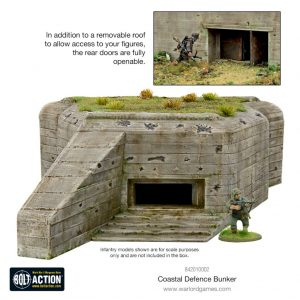 Warlord Games Bolt Action  Warlord Games Terrain R612/R680-style Coastal Defence Bunker - 842010002 - 5060572500365