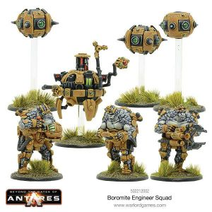 Warlord Games Beyond the Gates of Antares  Boromite Guilds Boromite Engineers and Workshop - 502212002 - 5060393705932