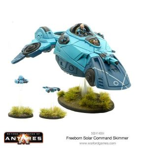 Warlord Games Beyond the Gates of Antares  Freeborn Freeborn Solar Command Skimmer - 502414004 - 5060393706595