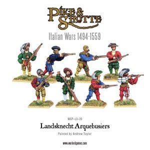 Warlord Games Pike & Shotte  Italian Wars 1494-1559 Landsknecht Arquebusiers - WGP-LS-26 - 5060200845431