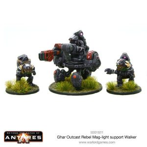 Warlord Games Beyond the Gates of Antares  Ghar Rebels Ghar Outcast Rebel Mag Light Support Walker - 503015011 - 5060393706328