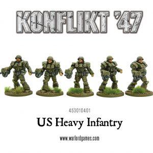 Warlord Games Konflikt '47  USA (K47) US Heavy Infantry (5) - 453010401 - 5060393704898