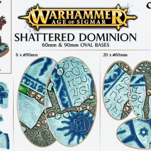 Games Workshop   Games Workshop Bases Shattered Dominion (60mm & 90mm) - 99120299035 - 5011921073139