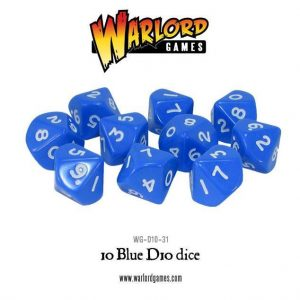 Warlord Games   D10 10 Blue D10 - WG-D10-31 - 5060200849651