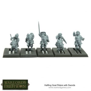 Warlord Games Warlord of Erehwon  Warlords of Erehwon Halfling Goat Riders with Swords - TT-HALF09 - 5060572505049