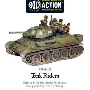 Warlord Games Bolt Action  Soviet Union (BA) Soviet Tank Riders (4) - WGB-RI-40 - 5060393701521