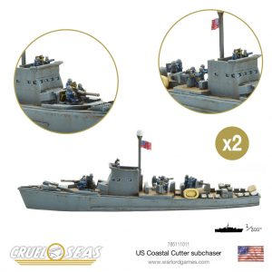 Warlord Games Cruel Seas  Cruel Seas Cruel Seas: US Coastal Cutter subchaser - 785111011 - 785111011