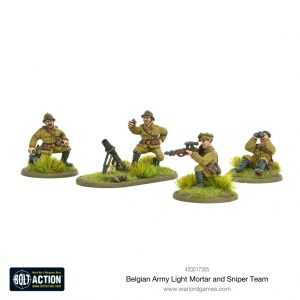 Warlord Games Bolt Action  Belgian Army (BA) Belgian Army light mortar & sniper teams - 403017305 - 5060572501713