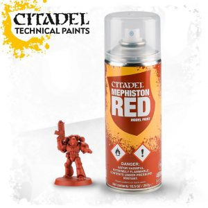 Games Workshop   Spray Paint GW Spray: Mephiston Red - 99209999072 - 5011921154548