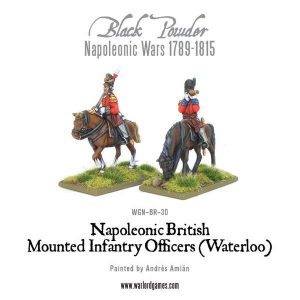 Warlord Games Black Powder  British (Napoleonic) Mounted British Infantry Colonels (Waterloo) - WGN-BR-30 - 5060200849194