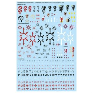 Games Workshop (Direct) Warhammer 40,000  40k Direct Orders Chaos Knights Transfer Sheet - 99510102023 - 5011921130580