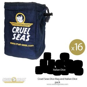 Warlord Games Cruel Seas  Cruel Seas Cruel Seas Dice Bag and Italian Dice pack - 788908001 -