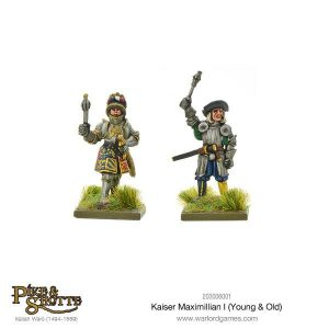 Warlord Games Pike & Shotte  Italian Wars 1494-1559 Kaiser Maximilian I (Young & Old) - 203006001 - 5060393707240