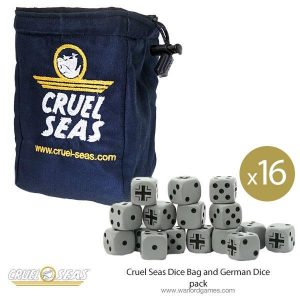 Warlord Games Cruel Seas  Cruel Seas Cruel Seas Dice Bag and German Dice pack - 788902001 -