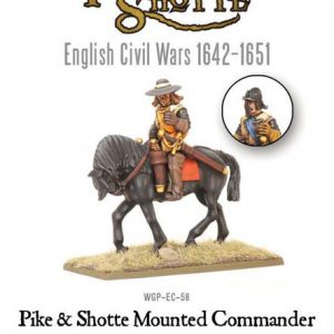 Warlord Games Pike & Shotte  The English Civil Wars 1642-1652 Pike & Shotte Mounted Commander - WGP-EC-58 -