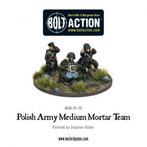 Warlord Games Bolt Action  Poland (BA) Polish Army Medium Mortar team - WGB-PI-25 - 5060200849613