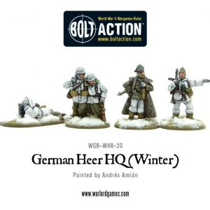 Warlord Games Bolt Action  Germany (BA) German Heer HQ (Winter) - WGB-WHR-20 - 5060393702955
