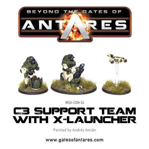 Warlord Games Beyond the Gates of Antares  PanHuman Concord Concord C3 Support Team with X-Launcher - WGA-CON-24 - 5060393700234