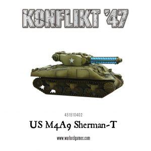 Warlord Games Konflikt '47  USA (K47) US M4A9 Sherman-T (Tesla Cannon) - 451510402 - 5060393704683