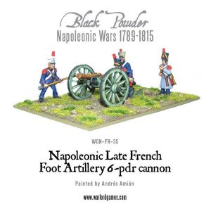 Warlord Games Black Powder  French (Napoleonic) French 6 pounder Foot Artillery - WGN-FR-35 - 5060393701040