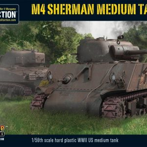 Warlord Games Bolt Action  United States of America (BA) M4 Sherman Medium Tank (plastic) - 402013006 - 5060200849781