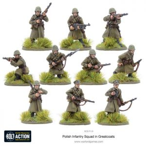 Warlord Games Bolt Action  Poland (BA) Polish Infantry Squad in greatcoats (10) - WGB-PI-04 - 5060393703624