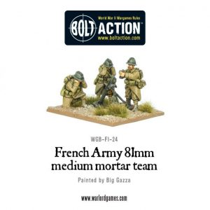 Warlord Games Bolt Action  France (BA) Early War French 81mm Mortar Team - WGB-FI-24 - 5060200841846