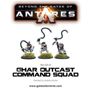 Warlord Games Beyond the Gates of Antares  Ghar Rebels Ghar Outcast Command Squad - WGA-GAR-26 - 5060393702887